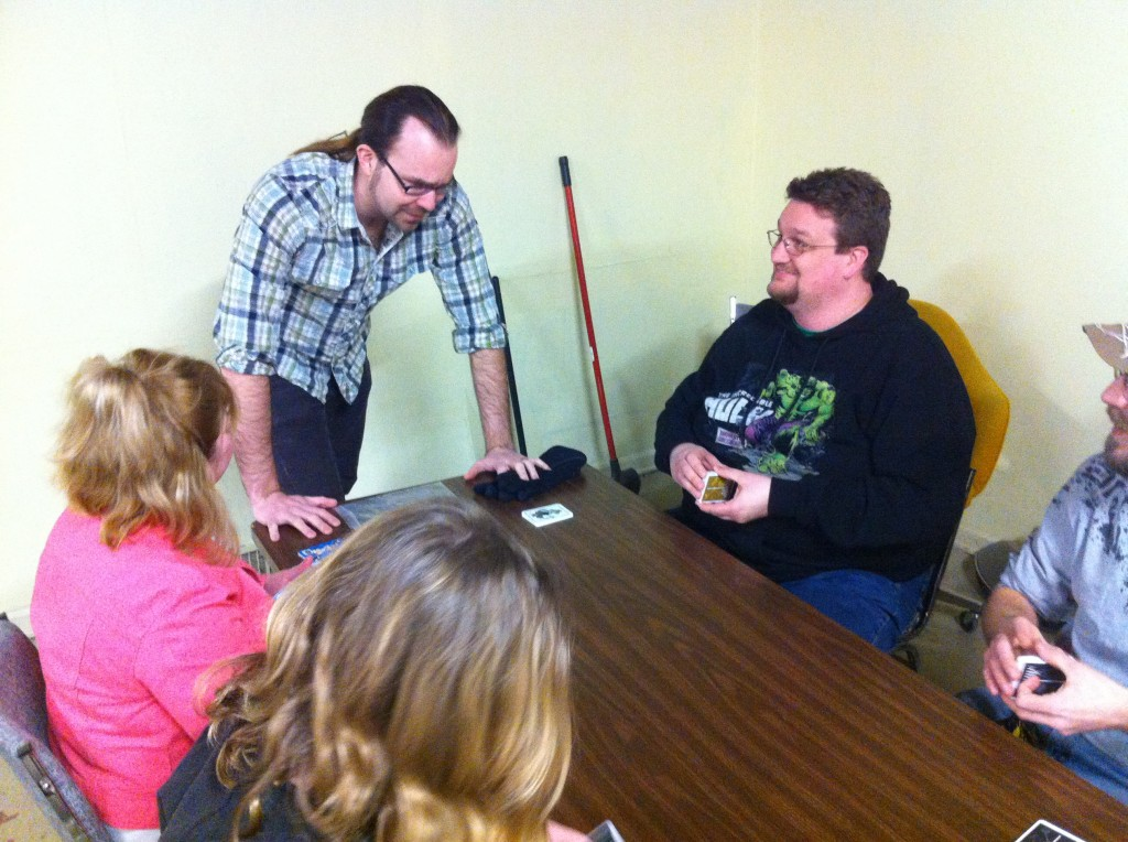 Lee teaching Zombie House Blitz at GameSpace