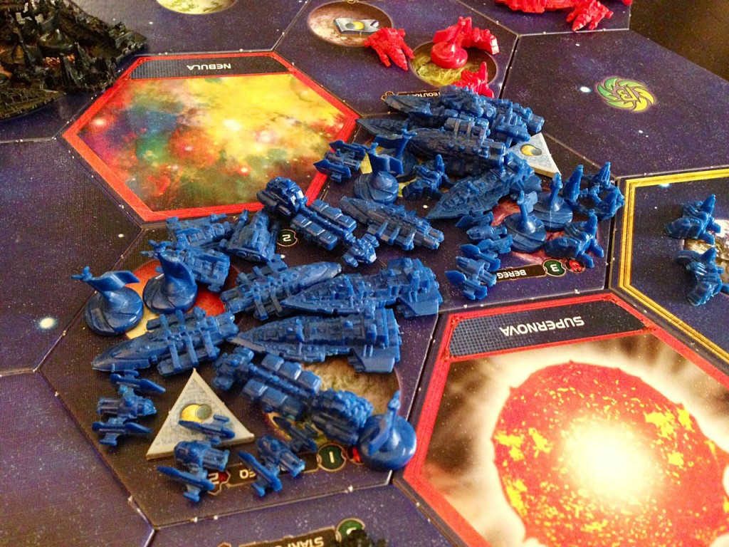 The massive Sol fleet at the end of the game - possibly the biggest I've ever seen.
