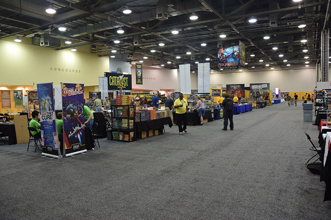 Our corner of the con in the exhibitor's hall.