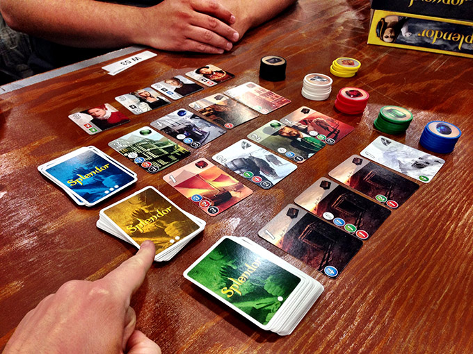 Splendor! I wasn't exactly impressed by my first play of this game, but that may have been because of all the hype.