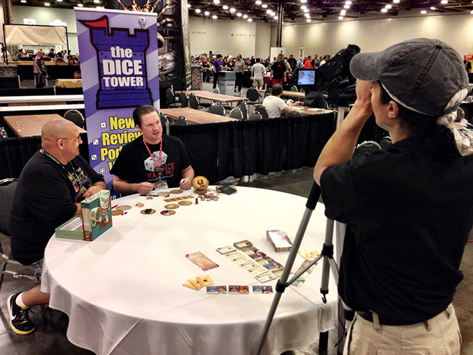 TC demonstrates VivaJava Dice for The Dice Tower.