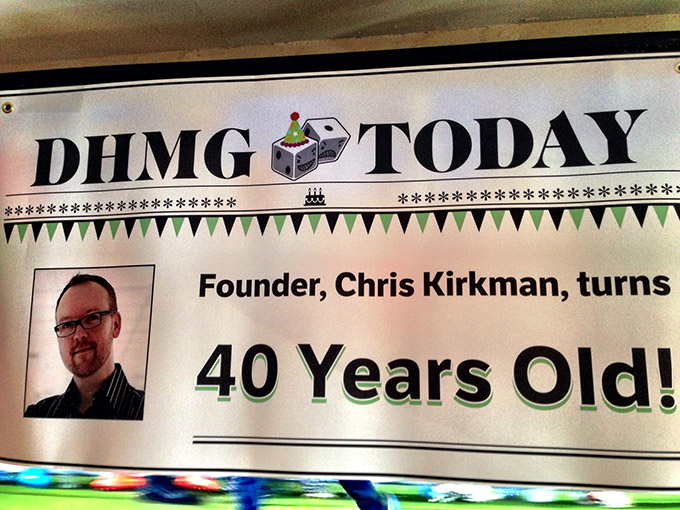 I got a big shock Friday night - a surprise 40th birthday party thrown for me at The Three-Legged Mare.