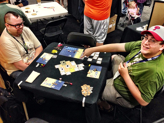 New Bedford in the DHMG booth on Sunday morning. New Bedford will be on Kickstarter this fall!