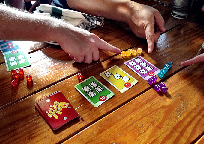 Playing Roll For It! at the Three-Legged Mare on Sunday night.