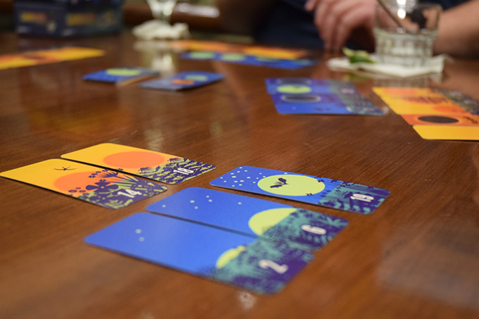 Sonne und Mond! I didn't get a chance to play, but the cards and art are amazing.