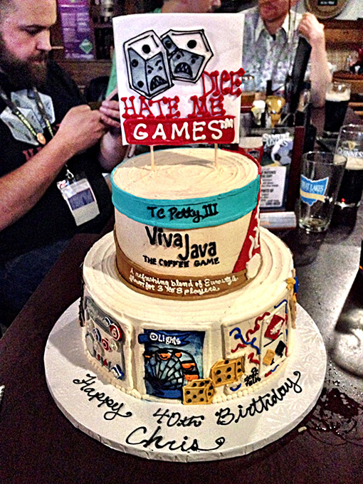 The amazing cake! Of course TC Petty III steals the spotlight, once again.