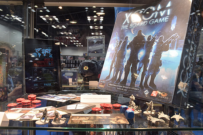 FFG also had promo copies of the upcoming title X-Com at the show. Unfortunately, I wasn't able to get a closer look at all the components, but from what I saw behind the glass, it looks amazing.