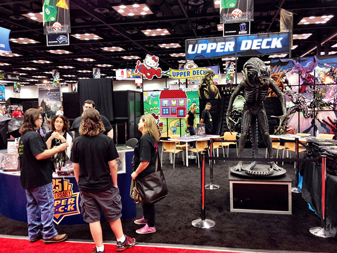 The Upper Deck booth sported a life-size Alien in honor of their new release, Legendary: Encounters. I didn't grab a copy, but Dan Patriss did, so I'm looking forward to playing his copy very soon.