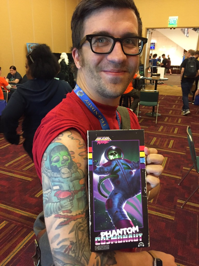 Speaking of Lazer Ryderz, this guys tat was awesome! He had gotten it years before and when he saw Phantom Cosmonaut he just had to have the game.