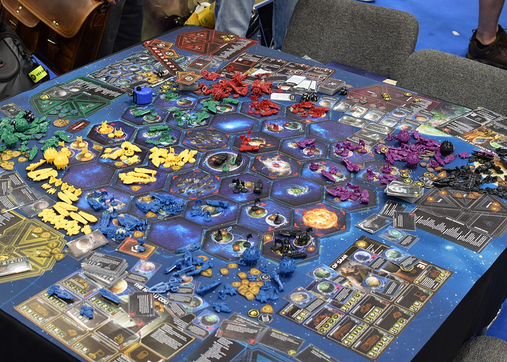 It's nice to know that Twilight Imperium Fourth Edition will leave just as big a mess after the game as Third Edition.