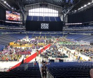 Gen Con has slowly expanded into Lucas Oil Stadium over the years, but this was the first year where panels and a lot of events drew even more crowds over there. I had never been inside the stadium before this year, but I'm here to tell you that it's totally awesome! So much space, so much light, and such fresh air. Plus, tons of awesome games to check out!