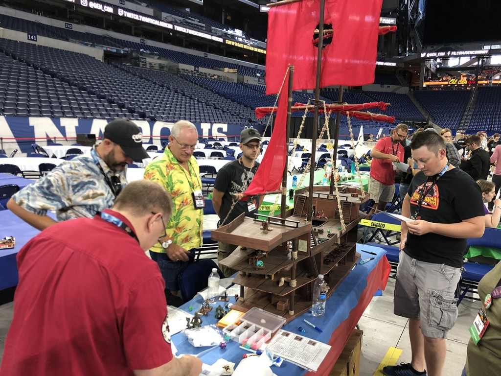 An entire boarding raid game on a giant ship. If I didn't have to work I would have spent all four days in Lucas Oil Stadium playing games like this.