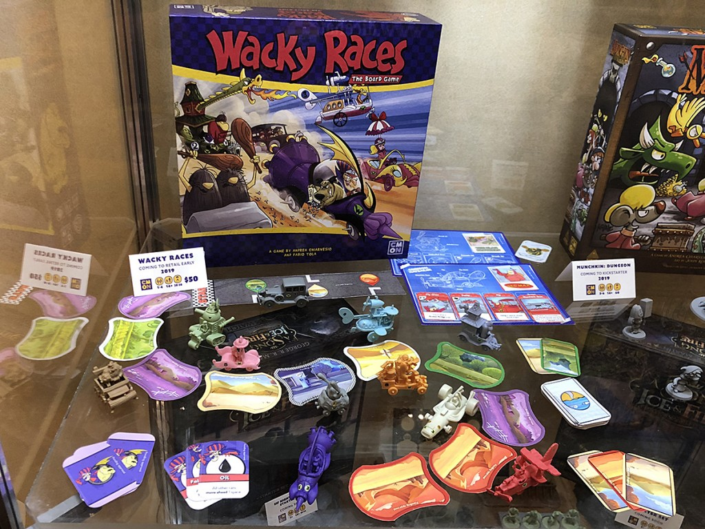 CMON had a lot of upcoming stuff on display but nothing is as exciting to me as Wacky Races. I've wanted to do something with this IP for years.