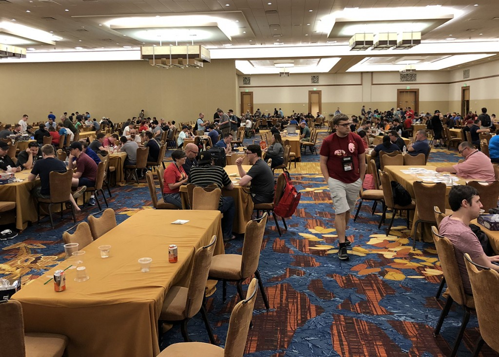 This year Gen Con expanded open gaming into one of the largest JW Marriott ball rooms, which was huge! This ballroom was almost as big as the main gaming hall at Dice Tower Con, which might give you a little perspective on the size and scope of Gen Con.