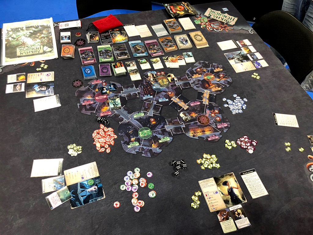 Arkham Horror 3.0! I had a chance to demo this new version of one of my favorite games of all time, but I had a meeting to be at. Curses! I have no doubt that I'll be checking this game out more in the next few months before its release.