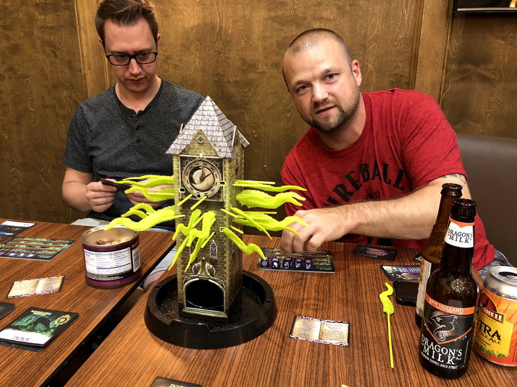 Tower of Madness in action with Dan Halsted and Kevin Crowther. Kevin went insane during the game and actually managed to win!