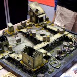 Great terrain used for demos of Dystopian Wars.