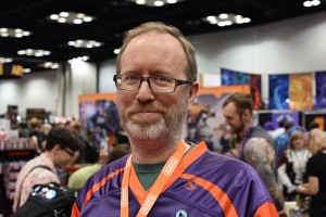 News master W. Eric Martin sporting his brand new Boardgamegeek jersey.