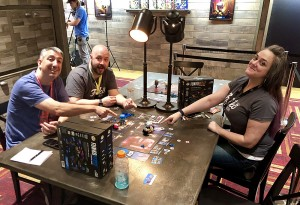 Dan and I got a chance to demo the new Funkoverse Strategy Game with Stephanie Straw and designer Chris Rowlands.