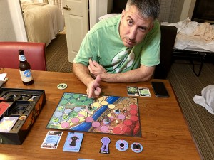 Dan and I got a chance to try out Unmatched from Restoration Games. It's a really cool and breezy little 2-player tactical skirmish game that has assymetrical powers handled by a specialized deck of cards.